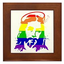 gaypridejesus Framed Tile