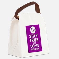 INFINITE LOVE Passion Purple Canvas Lunch Bag