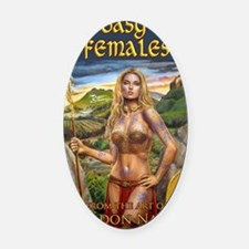 2-Brigantia fantasy art cover Oval Car Magnet