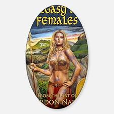 2-Brigantia fantasy art cover Sticker (Oval)