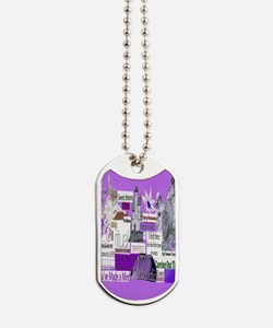 empower5x8purp Dog Tags