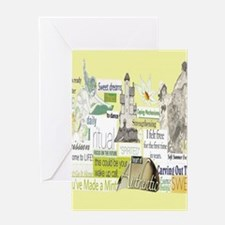 empower16x20yellow Greeting Card