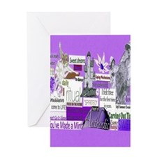 empower16x20purp Greeting Card