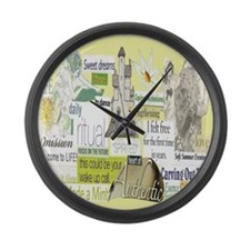 empower16x20yellow Large Wall Clock