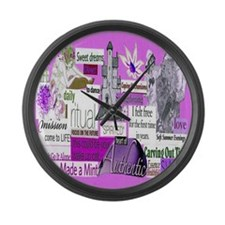 empower16x20pink Large Wall Clock