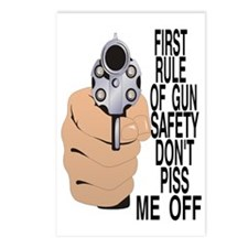 GUN SAFETY Postcards (Package of 8)