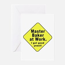 Dad-To-Be:Master Baker! Greeting Cards (Package of