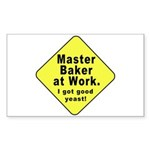 Dad-To-Be:Master Baker! Rectangle Sticker