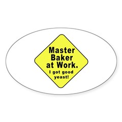 Dad-To-Be:Master Baker! Oval Decal