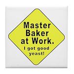 Dad-To-Be:Master Baker! Tile Coaster
