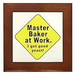 Dad-To-Be:Master Baker! Framed Tile