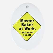 Dad-To-Be:Master Baker! Oval Ornament