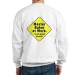 Dad-To-Be:Master Baker! (OnBack) Sweatshirt