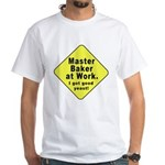 Dad-To-Be:Master Baker! White T-Shirt