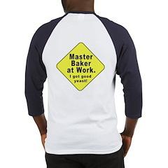 Dad-To-Be:Master Baker! (OnBack) Baseball Jersey