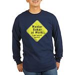 Dad-To-Be:Master Baker! Long Sleeve Dark T-Shirt