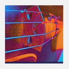 ViolinBlueStrings-poster Tile Coaster