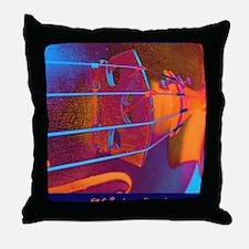 ViolinBlueStrings-poster Throw Pillow