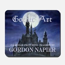 2-Gothic_Castle for broad calcov Mousepad