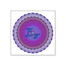 """E8_Blue_1 Square Sticker 3"""" x 3"""""""
