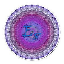 E8_Blue_1 Round Car Magnet