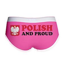 Polish and Proud Sticker Women's Boy Brief