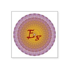 "E8_Gold Square Sticker 3"" x 3"""