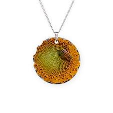 SunflowerBFramedPanelPrint Necklace