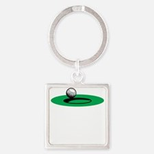 Golf Freak copy Square Keychain