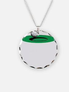 Golf Freak copy Necklace Circle Charm