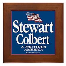 """""""Stewart-Colbert '08"""" Framed Tile"""