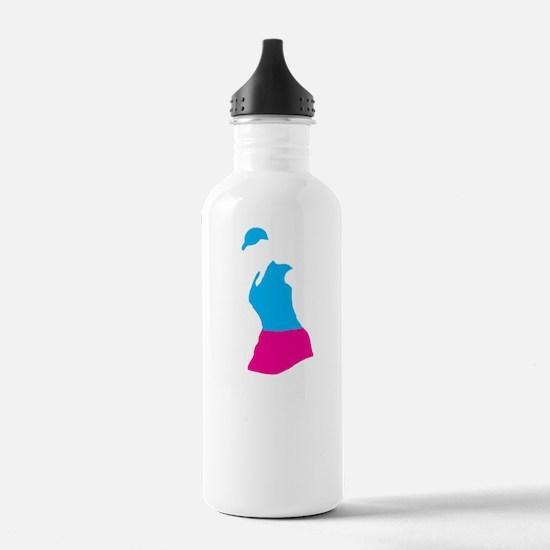 Golfer 14 copy Water Bottle