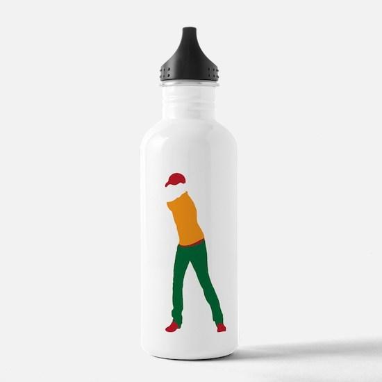 Golfer 13 copy Water Bottle