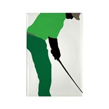 Golfer 24 Rectangle Magnet