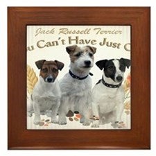 Jack Russell Cant Have Just One Cards Framed Tile