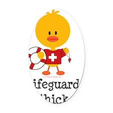 LifeguardChick Oval Car Magnet