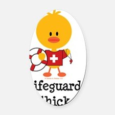 LifeguardChick Oval Car Magnet