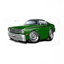 1970-74 Duster Green-Black  Aluminum License Plate