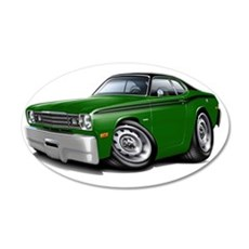 1970-74 Duster Green-Black T Wall Decal
