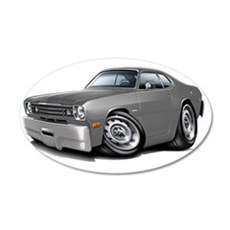 1970-74 Duster Grey Car Wall Decal