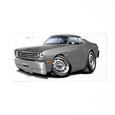 1970-74 Duster Grey Car Aluminum License Plate