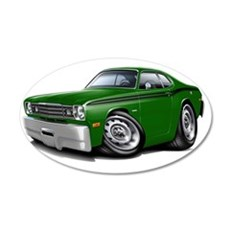 1970-74 Duster Green-Black C Wall Decal