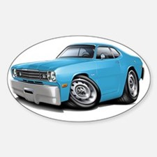 1970-74 Duster Lt Blue Car Decal