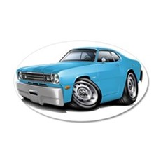 1970-74 Duster Lt Blue Car Wall Decal