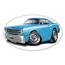 1970-74 Duster Lt Blue-White Car Decal