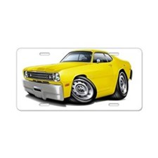1970-74 Duster Yellow Car Aluminum License Plate