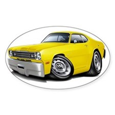 1970-74 Duster Yellow Car Decal