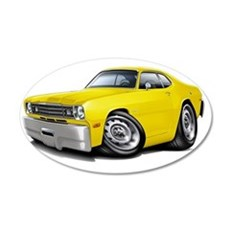 1970-74 Duster Yellow Car Wall Decal