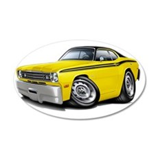 1970-74 Duster Yellow-Black  Wall Decal