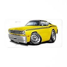 1970-74 Duster Yellow-Black Aluminum License Plate